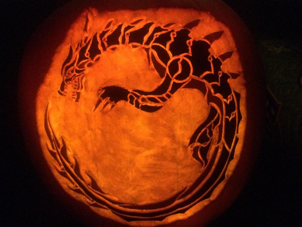 Monster hunter lagiacrus pumpkin by midnightrushpony on