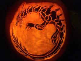 Monster Hunter Lagiacrus Pumpkin by MidnightRushPony
