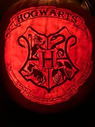 Hogwarts Crest pumpkin 2019
