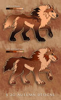 [Flat Sale] Autumn Adoptables [CLOSED] by Wulfghast