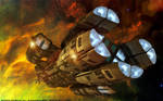 Battlestar Pleides Cruising