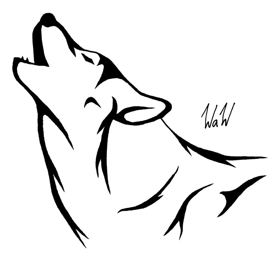 easy tribal wolf drawing - photo #5