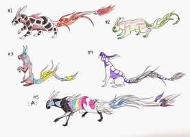 Sky Rabbit Points Adopts (1/5 OPEN) by SpiderMilkshake