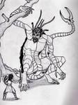 The Giant Pinchertail (Lines--WIP!) by SpiderMilkshake