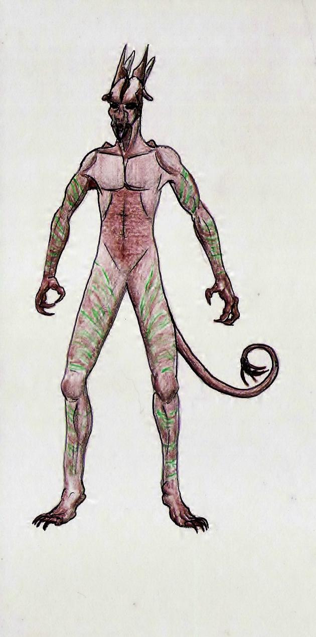 Arbossian Orig Commish--Reference Half by SpiderMilkshake