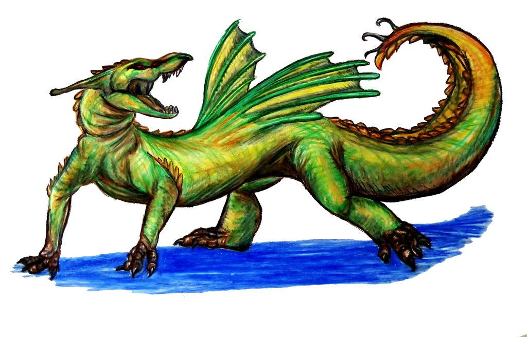 Art Trade--Dussian Crocodilian by SpiderMilkshake
