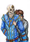 Commission--Skele-snugs! by SpiderMilkshake