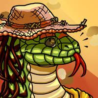 Hat Snek by SpiderMilkshake