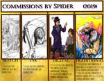 December 2018-2019 Commissions by SpiderMilkshake