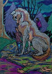 ACEO--Raised By Wolves by SpiderMilkshake