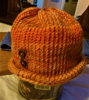 A Warm Orange Winter Hat (For Sale!) by SpiderMilkshake