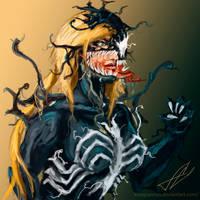 Venom Female Sketch #6 by KisagiSensei