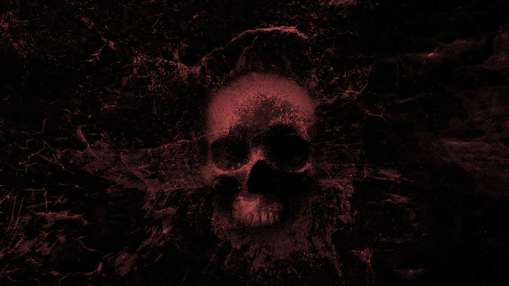 Splashing Skull 3.0 - Wallpaper (red) by WisdomX