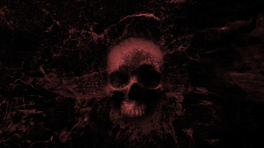 Splashing Skull 3.0 - Wallpaper (red) by WisdomX