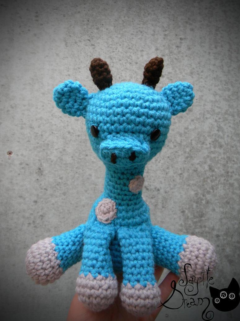 blue giraffe amigurumi by fayettedream on deviantART