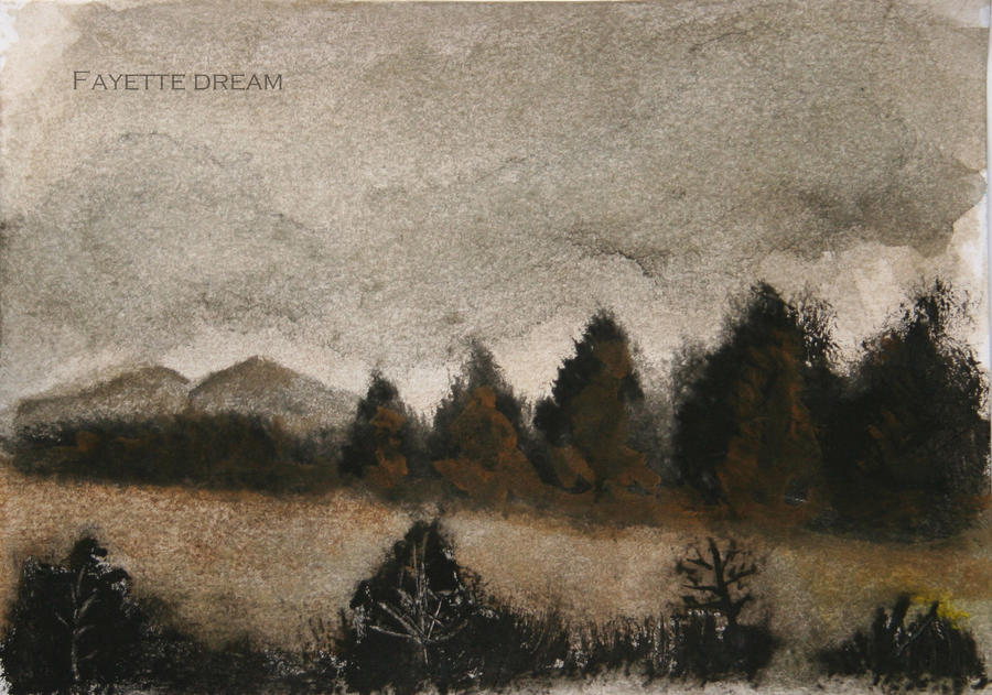 watercolors landscape in Morelia by fayettedream