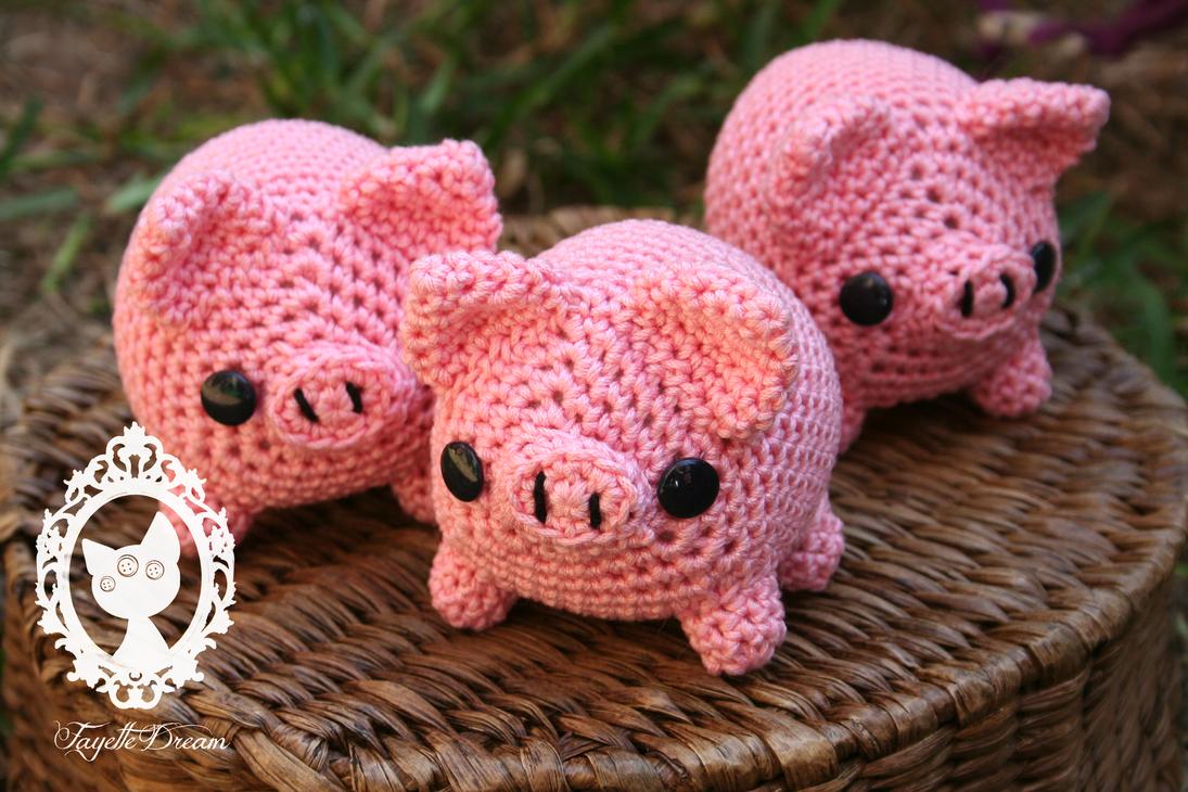 Amigurumi Pig Free Pattern : more amigurumi pigs by fayettedream on DeviantArt