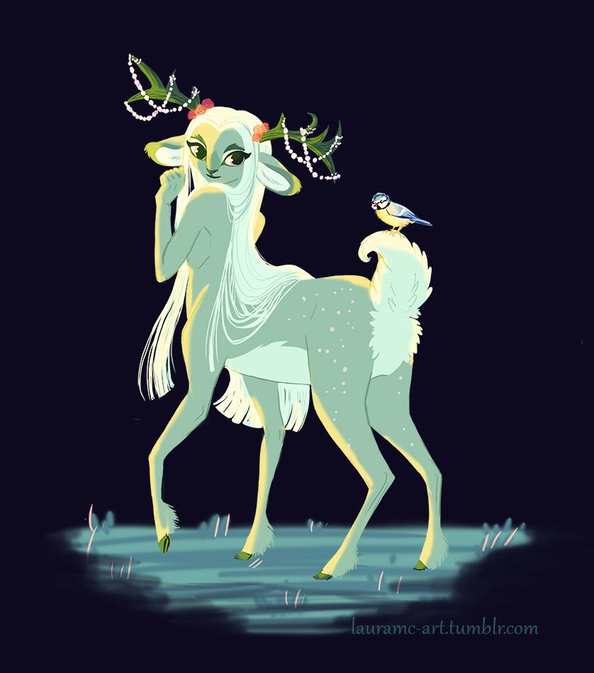 Woodland Deer Centaur (Cervitaur) by Moolallingtons