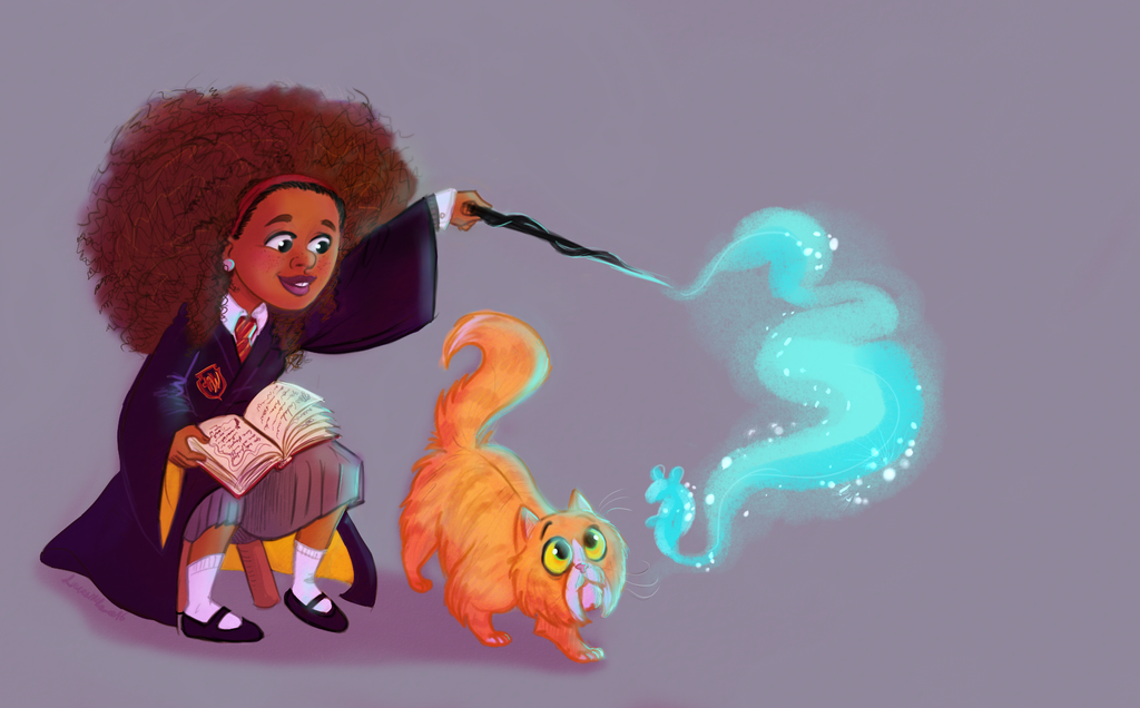 Hermione and Crookshanks by Moolallingtons