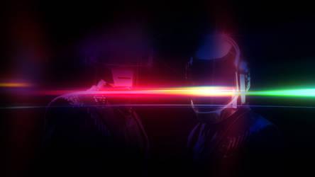 Daft Punk Homage (Colorful Drowning)