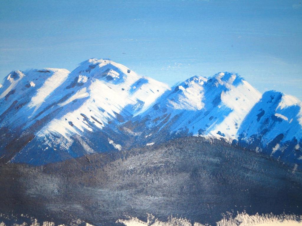 Mountainous View by GeorgieDeeArt