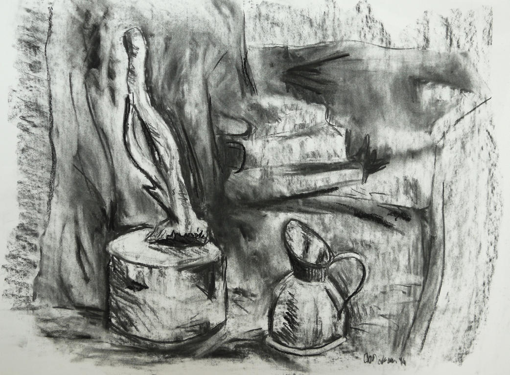Still Life - Charcoal Study by GeorgieDeeArt