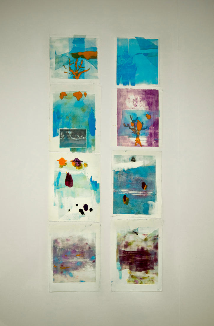 Monoprint Experiments - Series of 8 by GeorgieDeeArt