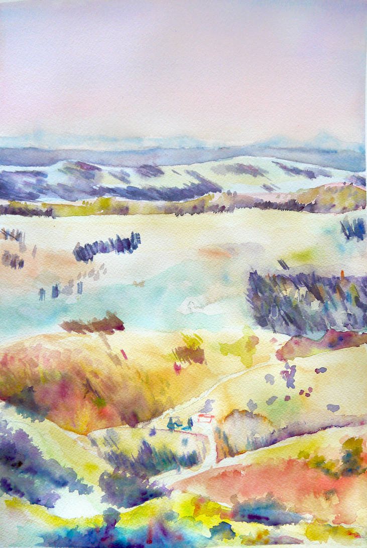 Picnic Point in Pastels by GeorgieDeeArt