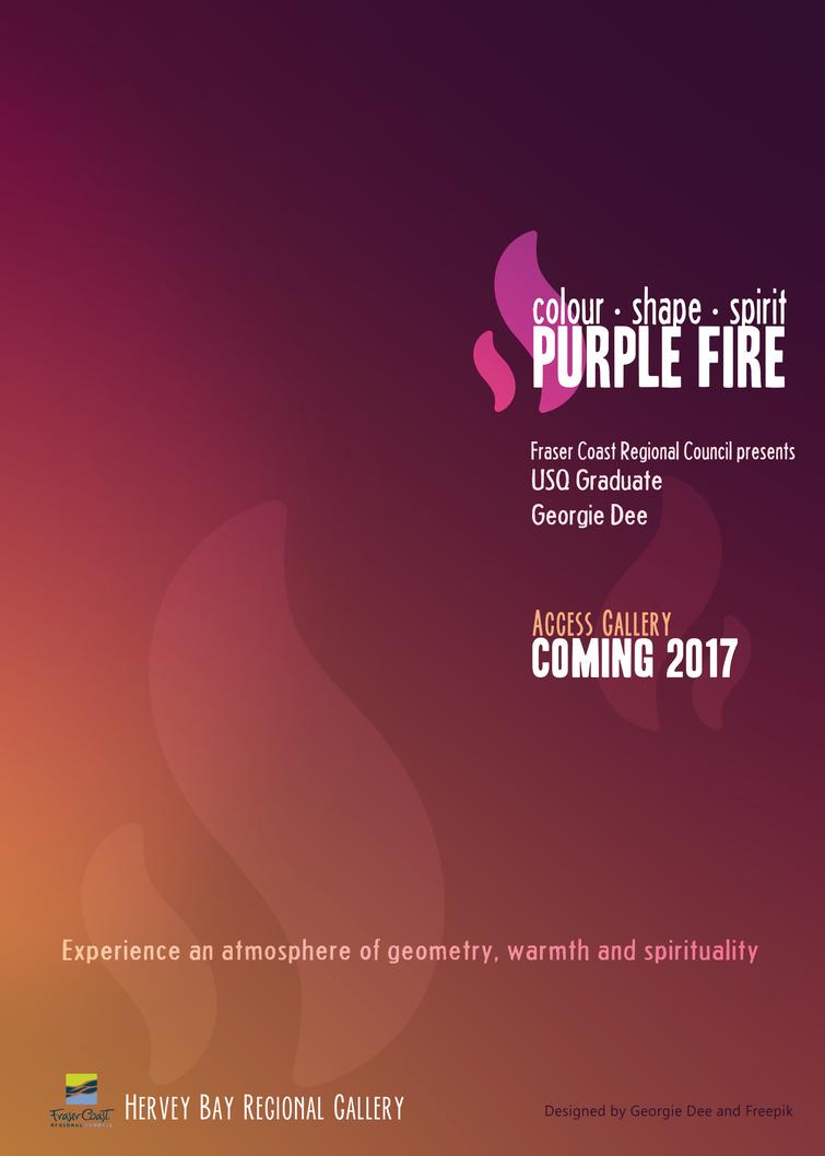 Purple Fire Exhibition Poster by GeorgieDeeArt