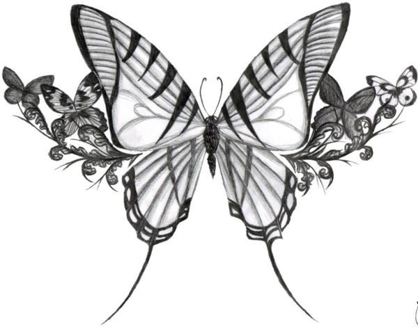 Butterfly Tattoo Design by ~arynthefox on deviantART