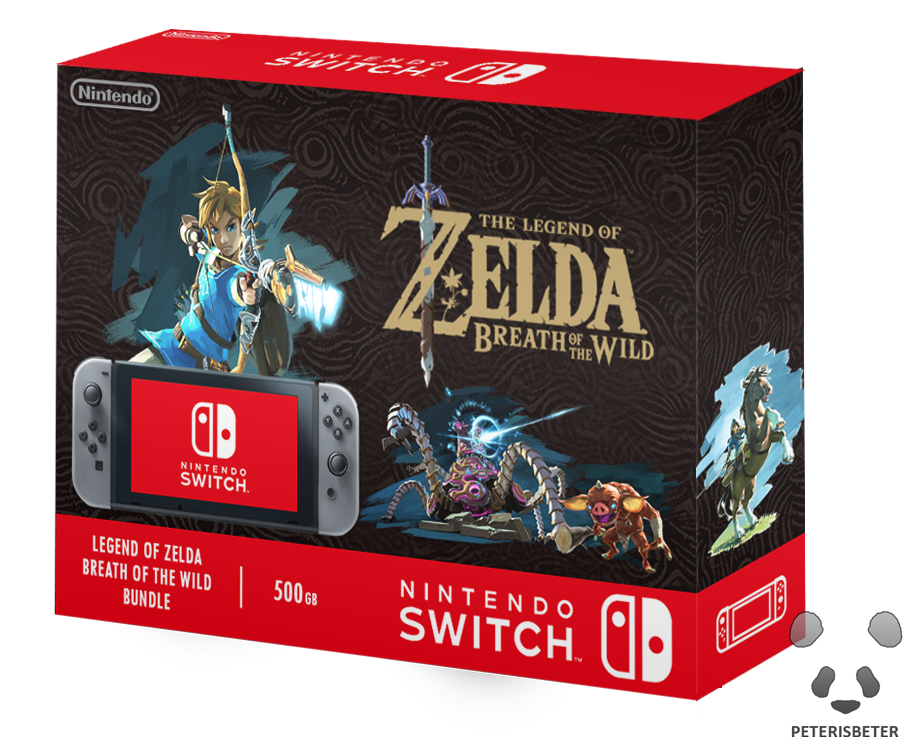 Nintendo Switch The Legend of Zelda BOTW Bundle by ...