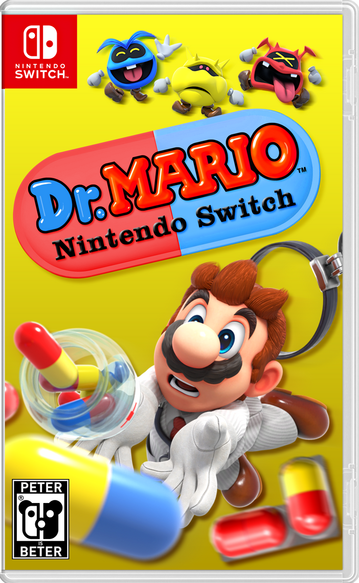 Dr Mario Nintendo Switch Cover By Peterisbeter On Deviantart
