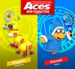Mario Tennis Aces Wiggler and Kamek