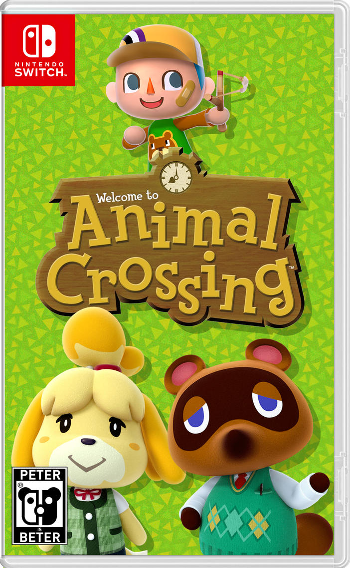 Animal Crossing Nintendo Switch Cover by PeterisBeter