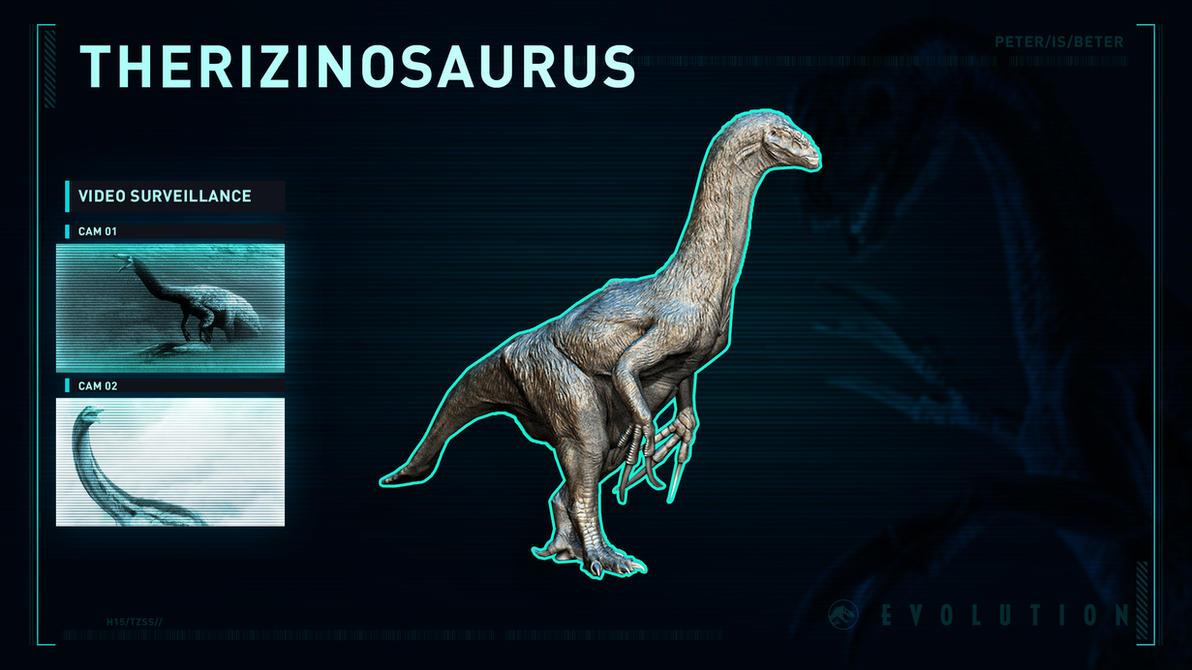 Jurassic World Evolution Therizinosaurus by PeterisBeter
