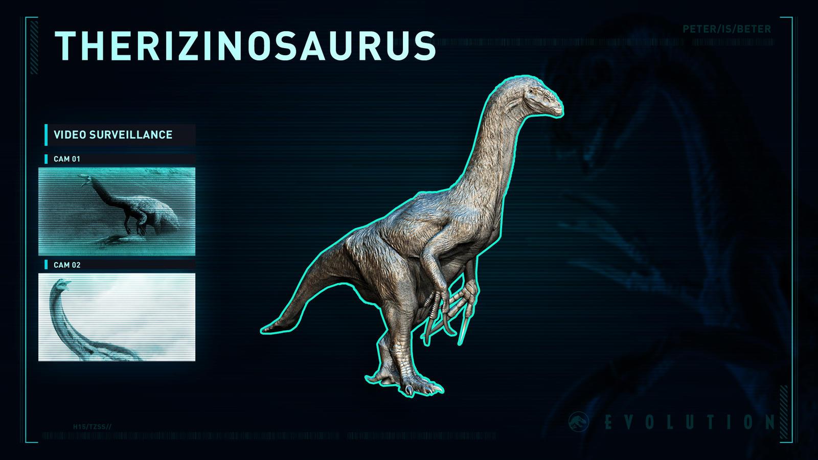 Jurassic World Evolution Therizinosaurus by PeterisBeter on