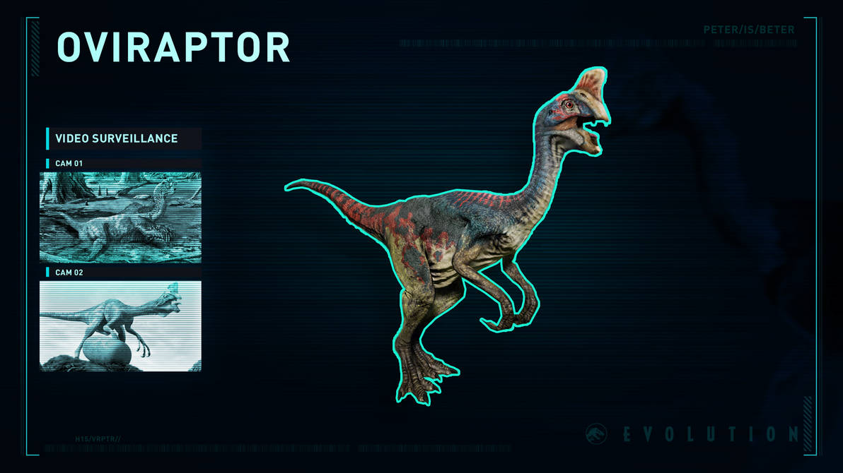 Jurassic World Evolution Oviraptor by PeterisBeter