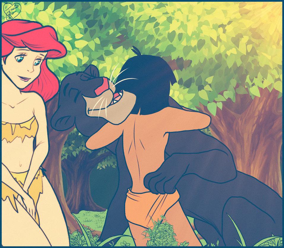 Ariel And Mowgli Porn ariel and mowgli hugging   cloudy girl pics