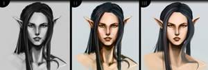Speed painting (female elf) #1