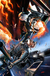 All New Ghost Rider #2 Variant Cover by popmhan