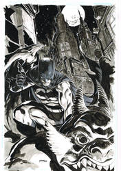 Batman on Gargoyle by popmhan