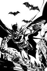 Batman pinup by popmhan