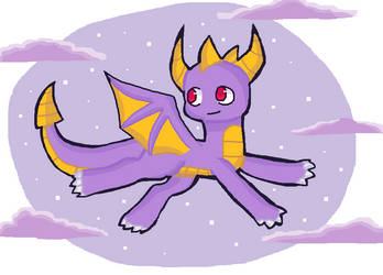 Spyro (MS paint) by PhantomPlayzGaming