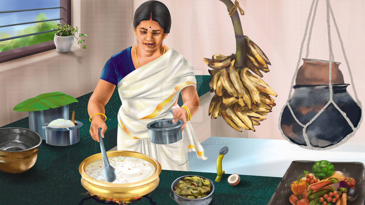 Onam Special Kerala Kitchen By Sumart123 On Deviantart