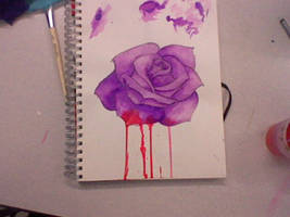 Tattoo Design (With blood on petals)