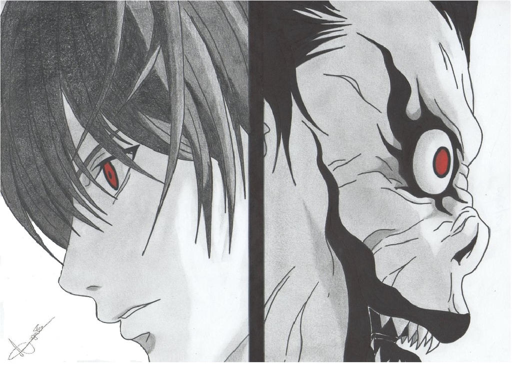 Light And Ryuk Death Note By Maryrin-d5ubn0x by Traduzila ...