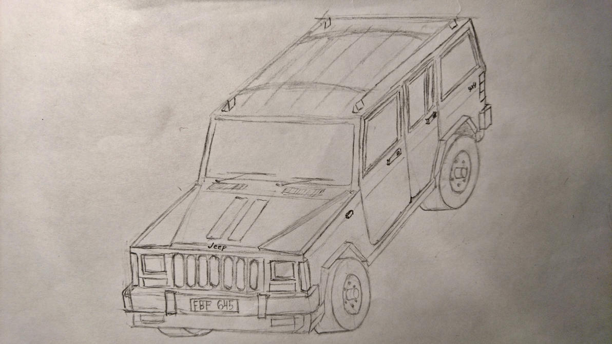 Jeep Cherokee XJ: Draw your car from memory by CBdraws on DeviantArt