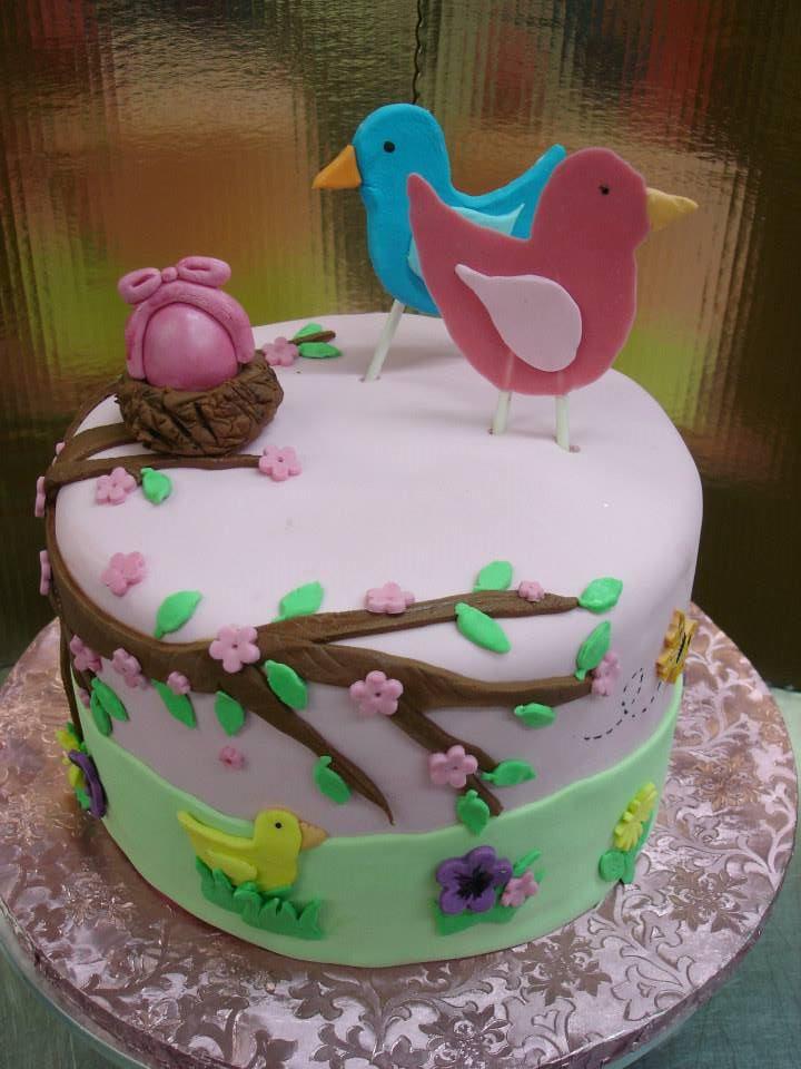 Cake With Fondant Bird : cute fondant bird cake by XxyummycupcakexX on DeviantArt