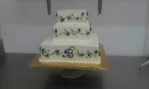 vines and flowers wedding cake