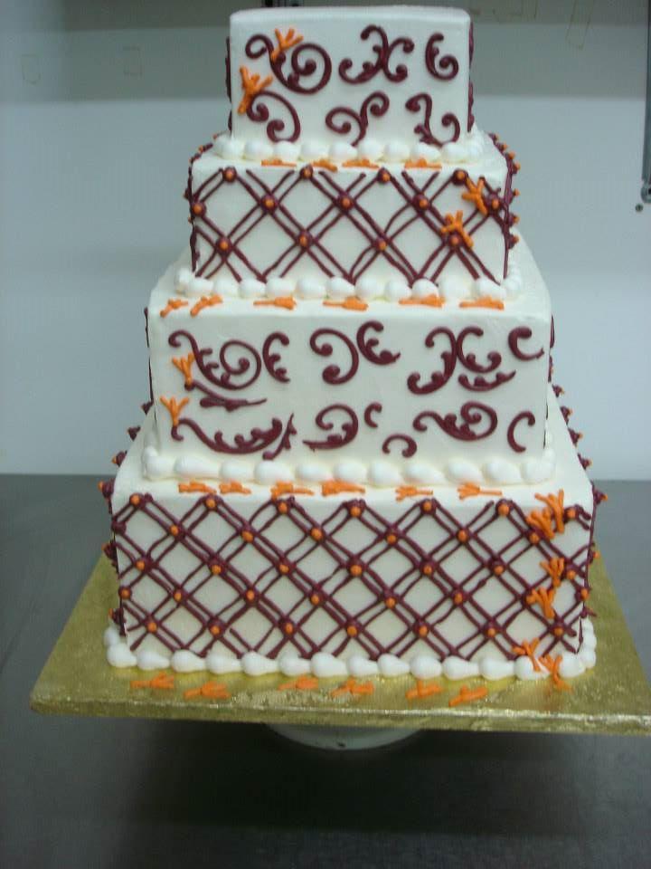 hokie wedding cake